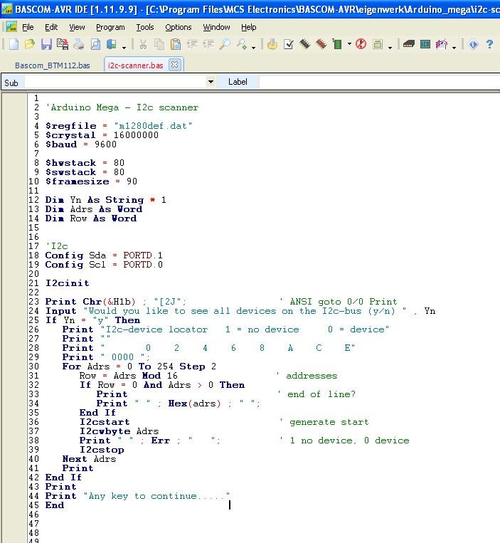 Ben's HobbyCorner - Software - Bascom-examples